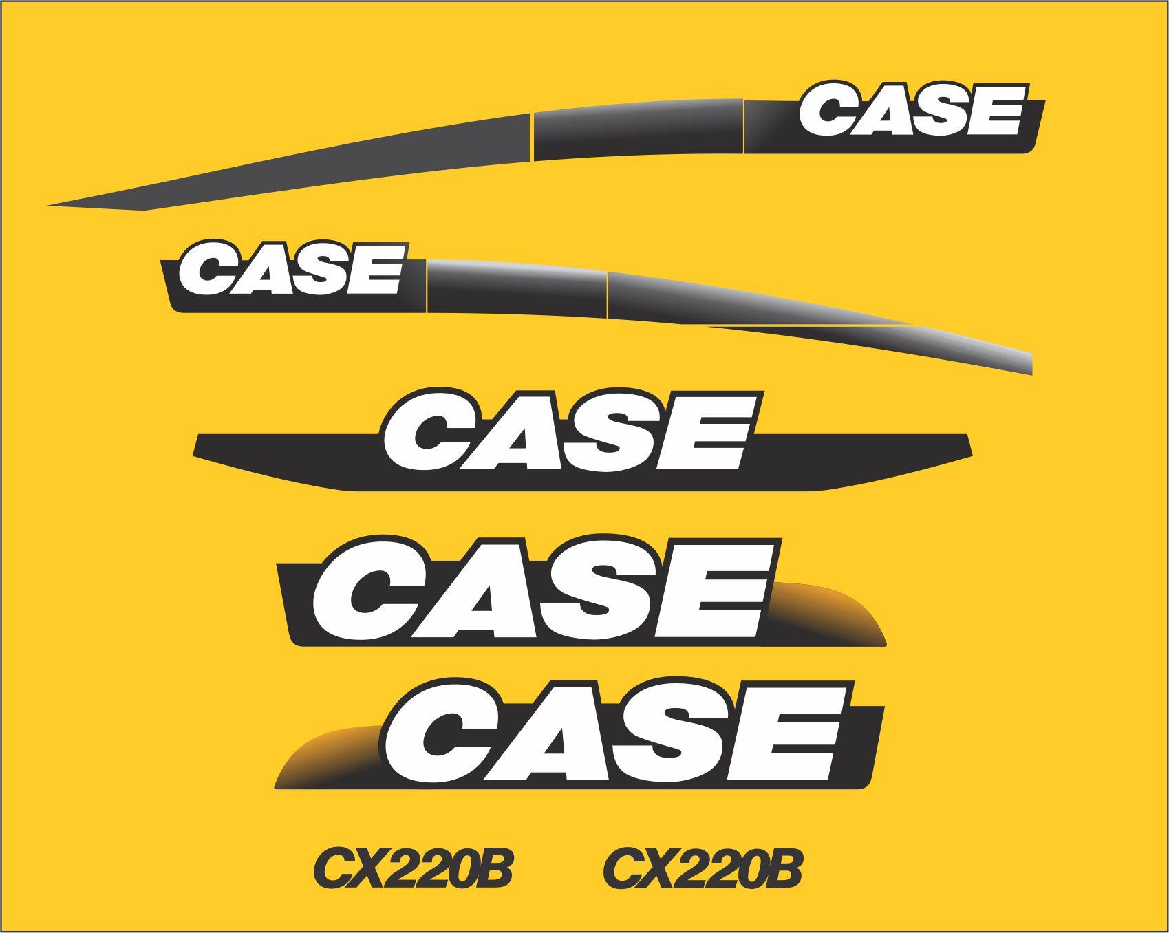 220 Case Decals : Kit adesivos case cx b decalx para motos